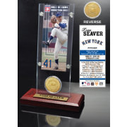 Highland Mint Tom Seaver New York Mets Hall of Fame Ticket and Bronze Coin Acrylic Desktop Display