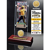 Highland Mint Willie Stargell Pittsburgh Pirates Hall of Fame Ticket and Bronze Coin Acrylic Desktop Display