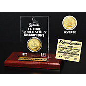 Highland Mint St. Louis Cardinals Gold Mint Coin Acrylic Desktop Display