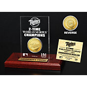 Highland Mint Minnesota Twins World Series Championship Gold Coin Etched Acrylic