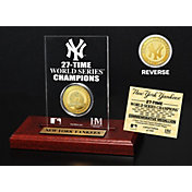 Highland Mint New York Yankees Gold Mint Coin Acrylic Desktop Display