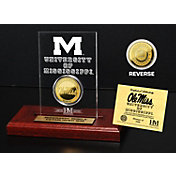 The Highland Mint Ole Miss Rebels Gold Coin Etched Acrylic