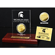 The Highland Mint Michigan State Spartans Gold Coin Etched Acrylic