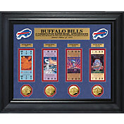 The Highland Mint Buffalo Bills 4 Consecutive Super Bowl Appearances Deluxe Ticket and Game Coin Collection
