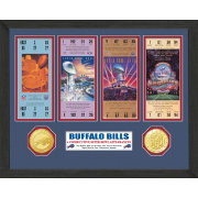 The Highland Mint Buffalo Bills 4 Consecutive Super Bowl Appearances Ticket Collection