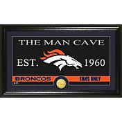 The Highland Mint Denver Broncos 'The Man Cave' Framed Bronze Coin Photo Mint