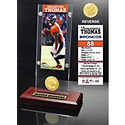 Highland Mint Denver Broncos Demaryius Thomas Ticket and Bronze Coin Desktop Display