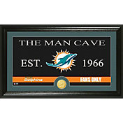 The Highland Mint Miami Dolphins 'The Man Cave' Framed Bronze Coin Photo Mint
