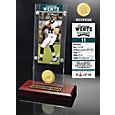Highland Mint Philadelphia Eagles Carson Wentz Ticket and Bronze Coin Desktop Display