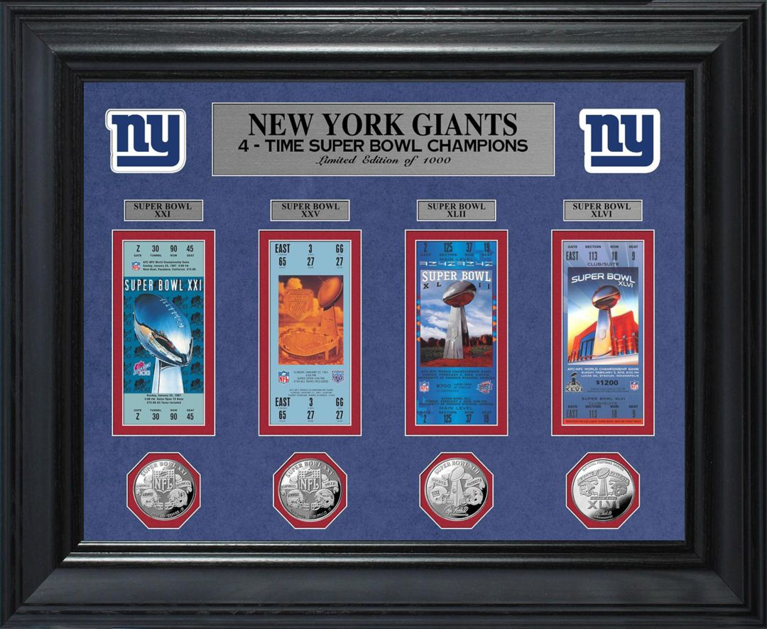 check out 6149e 99b1c The Highland Mint New York Giants Super Bowl Ticket and Coin Collection