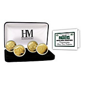 The Highland Mint Green Bay Packers 4x Super Bowl Champions Gold Coin Set