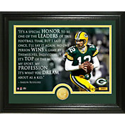 "Highland Mint Green Bay Packers Aaron Rodgers ""Quote"" Bronze Coin Photo Mint"