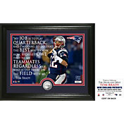 "Highland Mint New England Patriots Tom Brady ""Quote"" Silver Coin Photo Mint"
