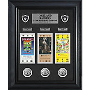 The Highland Mint Oakland Raiders Super Bowl Ticket and Coin Collection