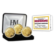 The Highland Mint Washington Redskins 4x Super Bowl Champions Gold Coin Set