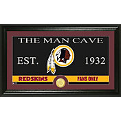The Highland Mint Washington Redskins 'The Man Cave' Framed Bronze Coin Photo Mint