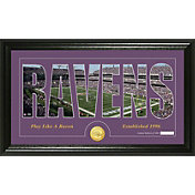 The Highland Mint Baltimore Ravens Framed 'Silhouette' Bronze Coin Photo Mint