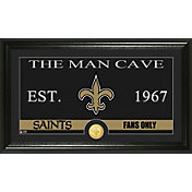 The Highland Mint New Orleans Saints 'The Man Cave' Framed Bronze Coin Photo Mint
