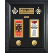 The Highland Mint New Orleans Saints Super Bowl Ticket and Coin Collection