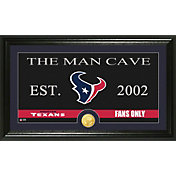The Highland Mint Houston Texans 'The Man Cave' Framed Bronze Coin Photo Mint