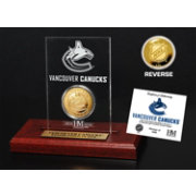 The Highland Mint Vancouver Canucks Gold Coin Etched Acrylic