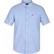 Hurley Men's Dri-FIT One & Only Button Down Short Sleeve Shirt
