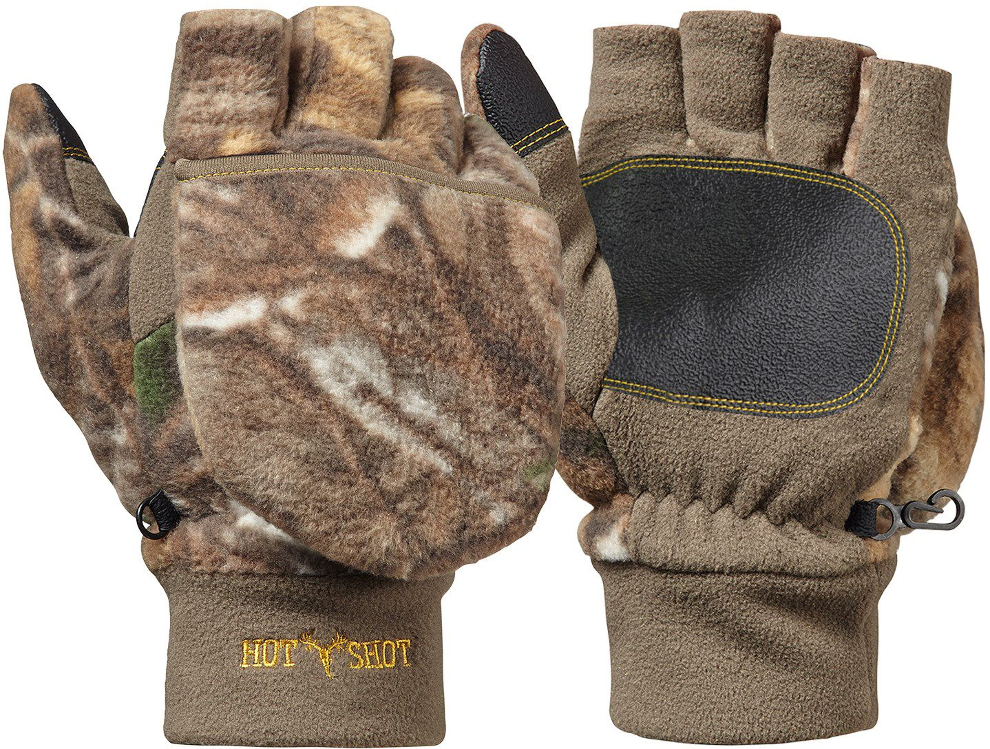 Hot Shot Youth Bulls-Eye Pop Top Gloves, Size: S/M, Brown thumbnail