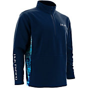 Huk Men's Quarter-Zip Fleece Pullover
