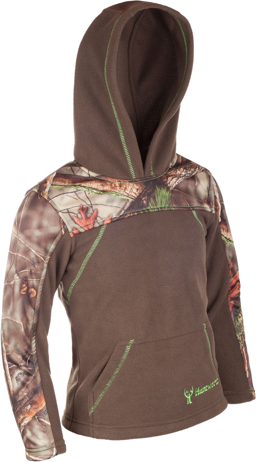 Huntworth Boys' 2-Tone Pullover Hoodie, Size: Small, Green thumbnail