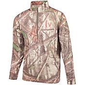 Huntworth Men's Merino Wool Blend Half-Zip Base Layer Shirt
