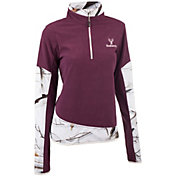 Huntworth Women's 2-Tone Quarter Zip Fleece Pullover