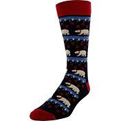 Yaktrax Men's Holiday Polar Bears Cabin Socks