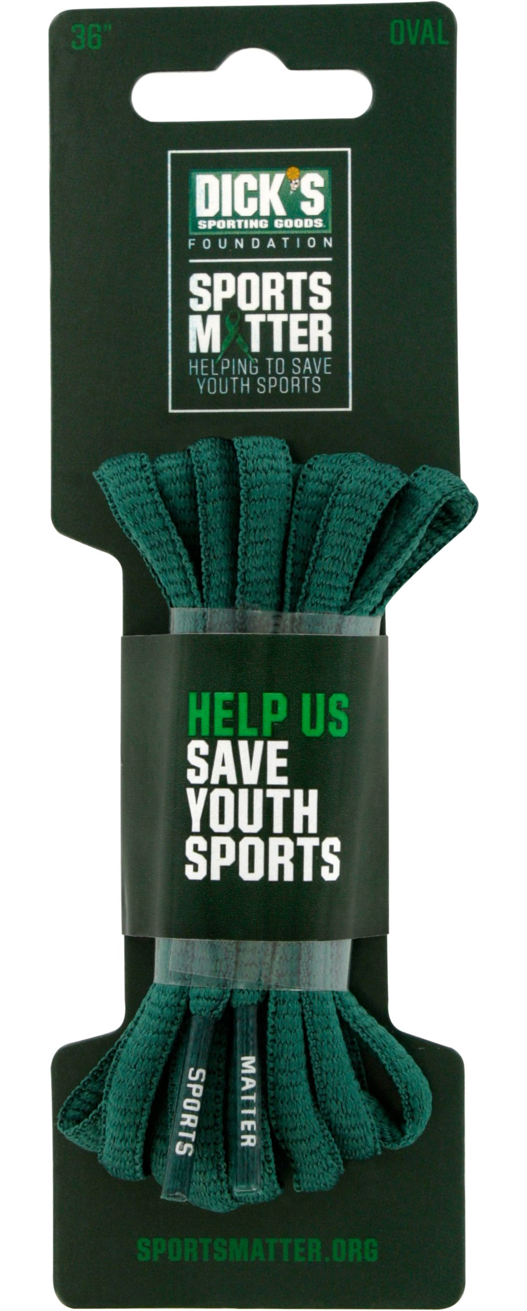 """The DICK'S Sporting Goods Foundation: Sports Matter Green Oval 36"""" Laces"""