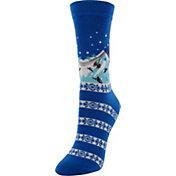 Yaktrax Women's Holiday Ski Lift Cabin Socks