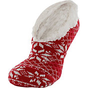 Yaktrax Women's Double Layer Footie Slipper Socks