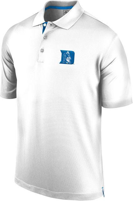 J. America Men's Duke Blue Devils Spector White Polo