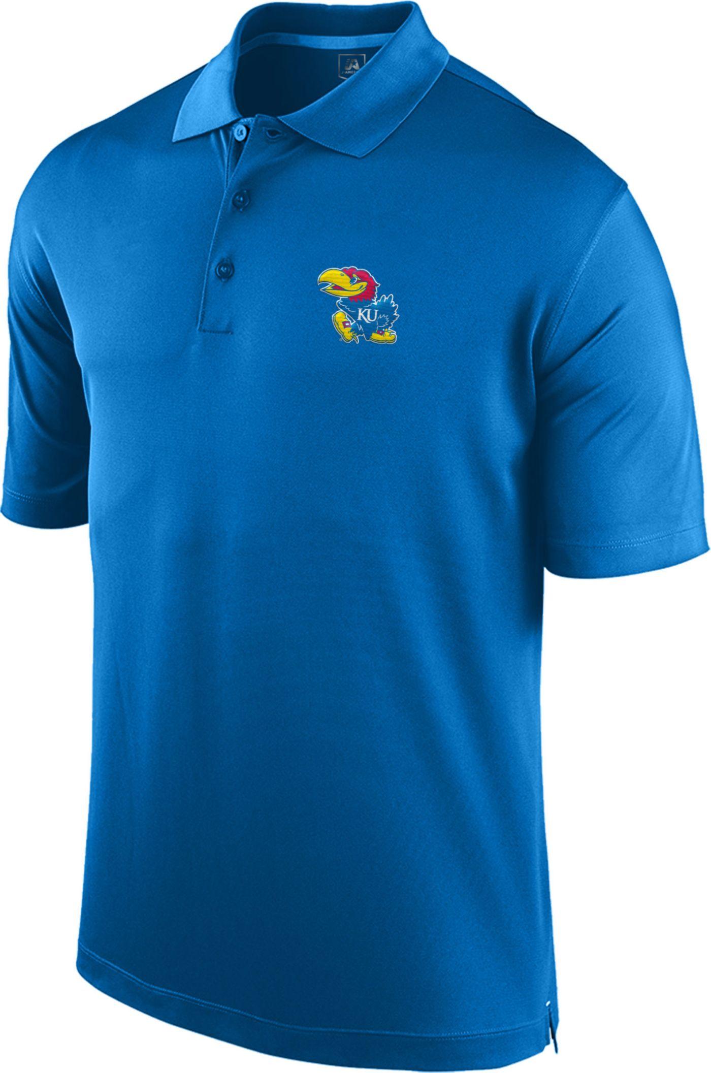 Top of the World Men's Kansas Jayhawks Blue Spector Polo