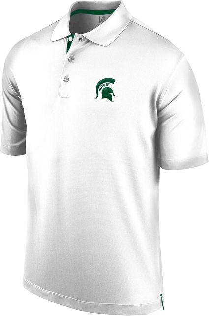 J. America Men's Michigan State Spartans Spector White Polo