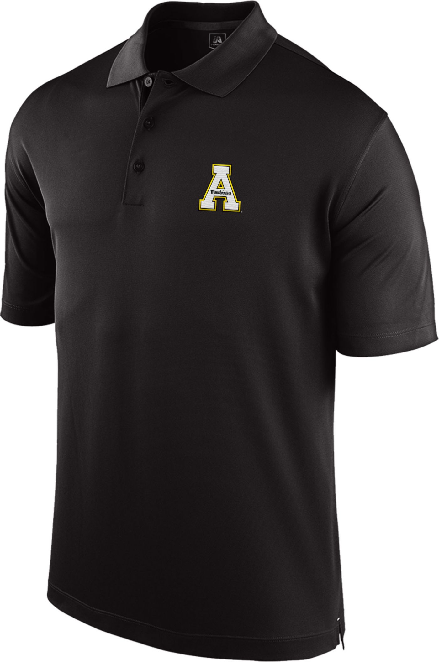 Top of the World Men's Appalachian State Mountaineers Black Spector Polo