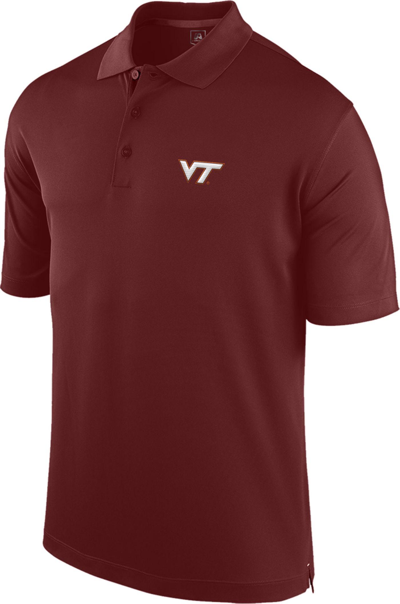J. America Men's Virginia Tech Hokies Maroon Spector Polo