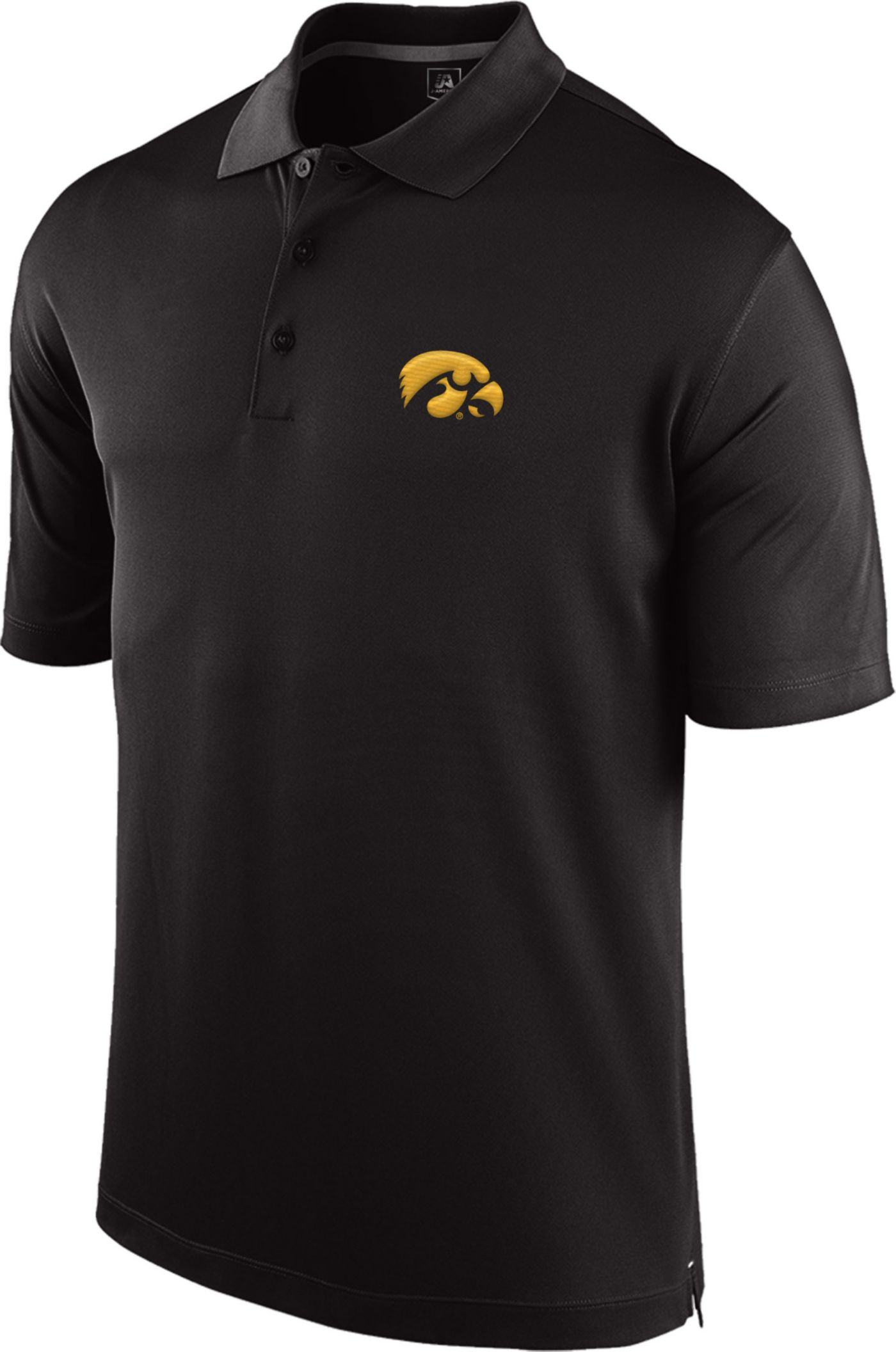 Top of the World Men's Iowa Hawkeyes Black Spector Polo