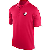 J. America Men's Wisconsin Badgers Red Spector Polo