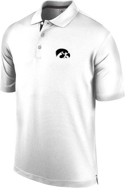 J. America Men's Iowa Hawkeyes Spector White Polo