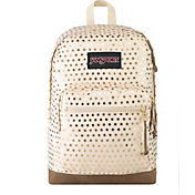 JanSport Right Pack Expressions Backpack in Gold Polka Dot