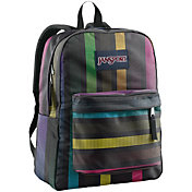 JanSport Superbreak Backpack in Black/Multi Disco Dot