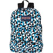JanSport Superbreak Backpack in Blue Crest Dizzy Swirl