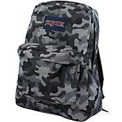 JanSport Superbreak Backpack in Grey Camo