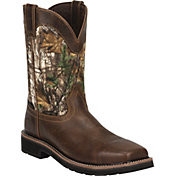 Justin Men's Stampede EH Waterproof Composite Toe Work Boots