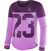 Jordan Girls' Big 23 Block Long Sleeve Shirt