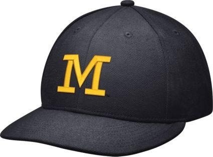 Jordan Men s Michigan Wolverines Blue Head Coach True Fitted Hat.  noImageFound 7b9425ecc83